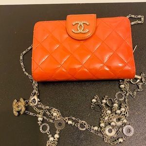 Chanel patent quilted diamond  crossbody.